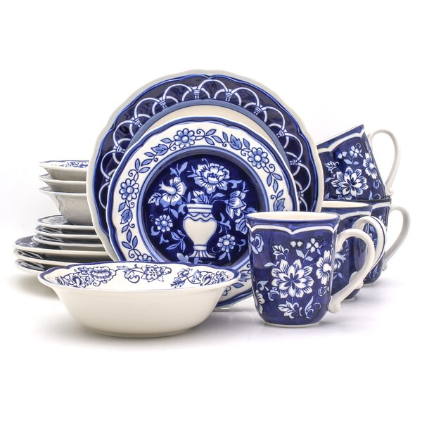 Embree 16 Piece Dinnerware Set, Service for 4 (Set
