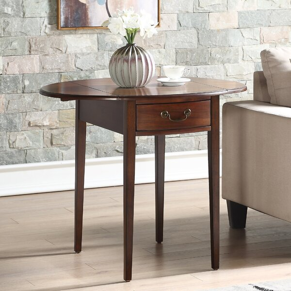 Hilton Drop Leaf End Table With Storage By Alcott Hill