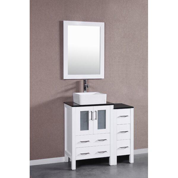Cambria Greenwich 36 Single Bathroom Vanity Set with Mirror by BosconiCambria Greenwich 36 Single Bathroom Vanity Set with Mirror by Bosconi