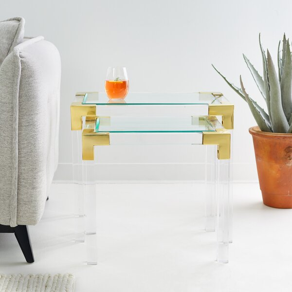 Dave 2 Piece Nesting Tables (Set of 2) by Everly Quinn Everly Quinn