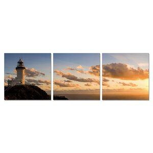 'Furinno Senia Wall Mounted Triptych' 3 Piece Photographic Print Set by Breakwater Bay