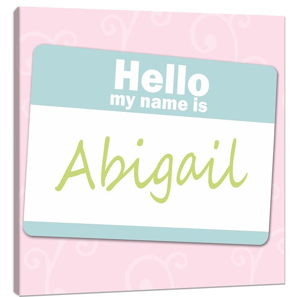 Monograms Name Tag Canvas Art by Doodlefish