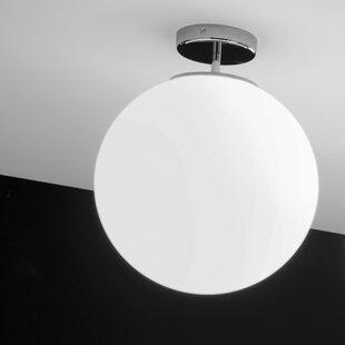Read Reviews Sferis 2-Light Outdoor Semi-Flush Mount By Ai Lati