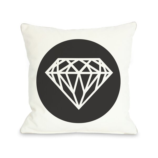 Diamond Circle Throw Pillow by One Bella Casa