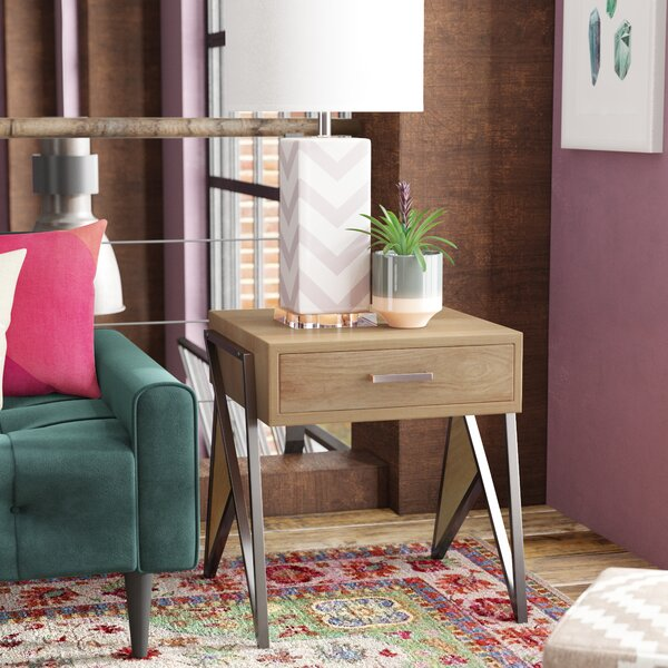 Kyng End Table by Ivy Bronx