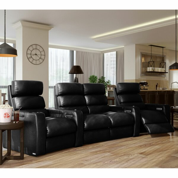 Dream HR Series Curved Home Theater Loveseat (Row Of 4) By Winston Porter