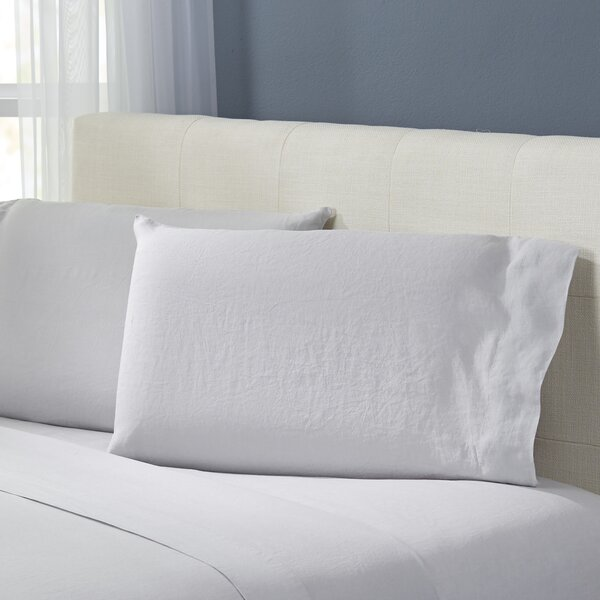 Bernadette Washed Belgian Linen Pillowcases (Set of 2) by Birch Lane™