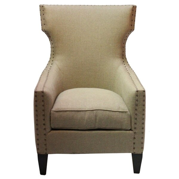 Bascombe Euro Burlap Armchair by Darby Home Co