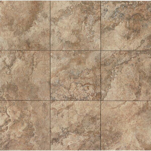 Forge 13 x 13 Porcelain Field Tile in Walnut by Bedrosians