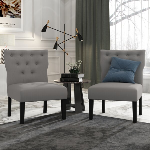 Chenley Button Side Chair (Set Of 2) By Charlton Home