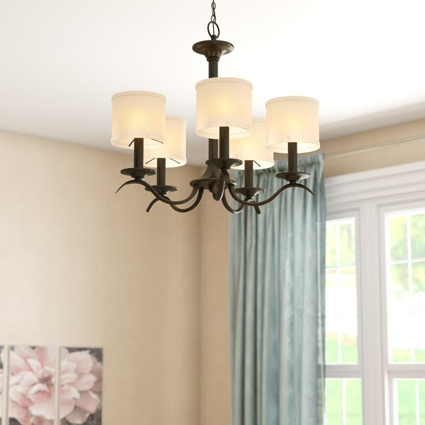 Greenwell 5-Light Shaded Chandelier by Three Posts