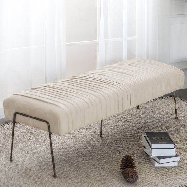 Stas Upholstered Bench by Bungalow Rose