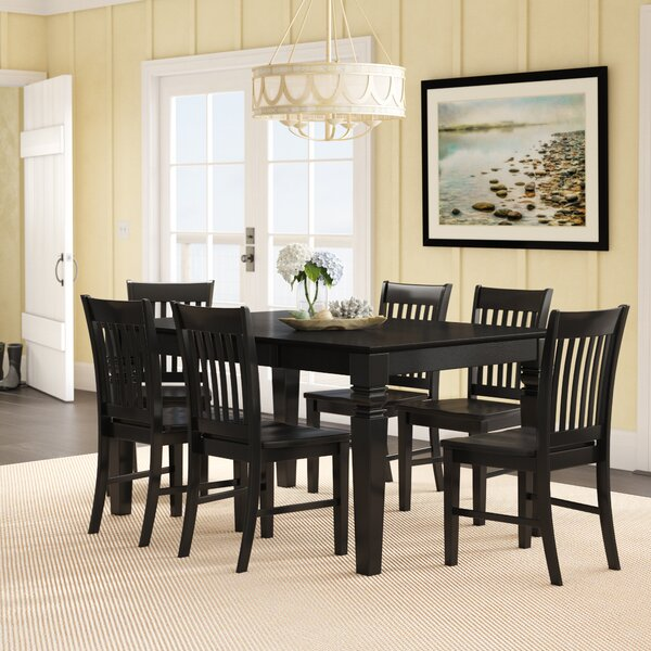 Pennington Traditional 7 Piece Dining Set by Beachcrest Home