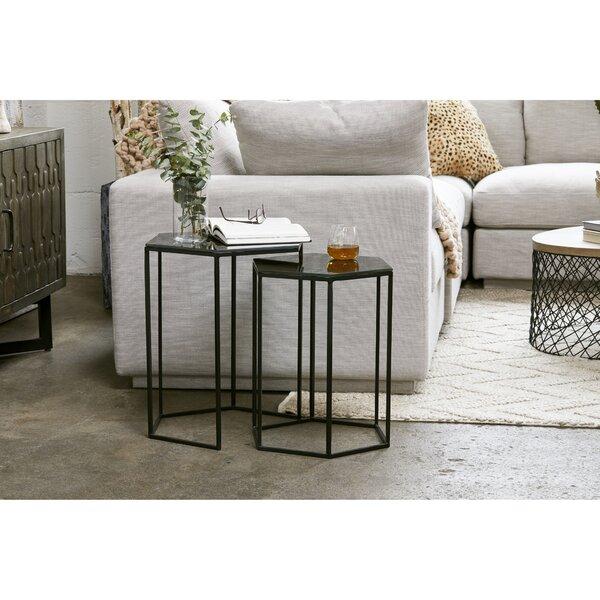 Home & Outdoor Rovel 2 Piece Nesting Tables