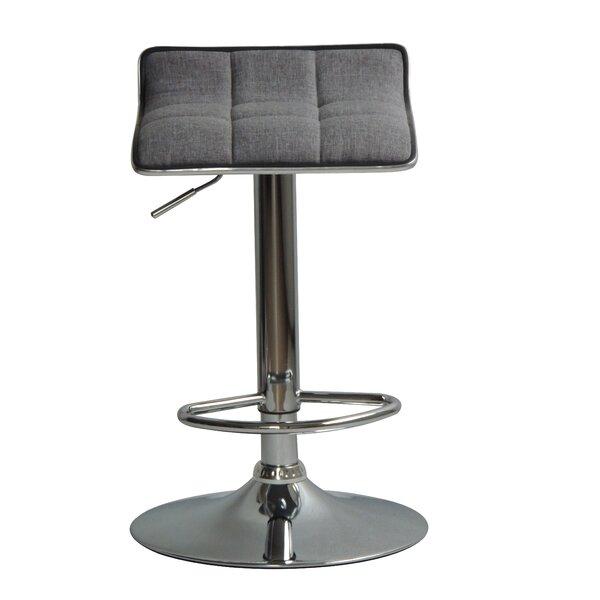 Hurwitz Back Adjustable Height Swivel Bar Stool (Set of 2) by Orren Ellis