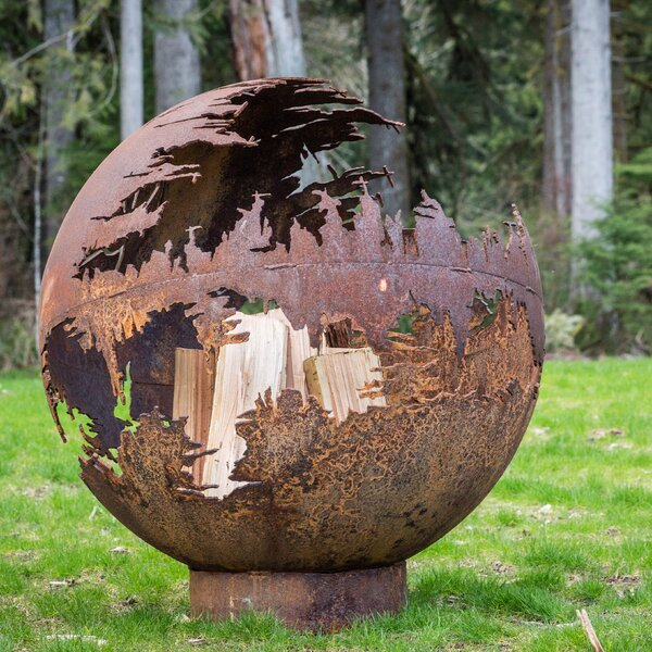 Death Star Steel Fire Pit by Cedar Creek Sculptures