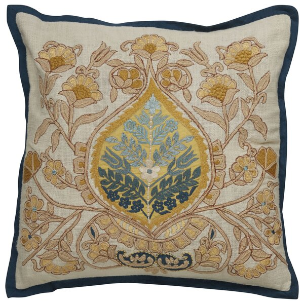 Greenmeadow Damask Pattern Cotton Throw Pillow by Darby Home Co