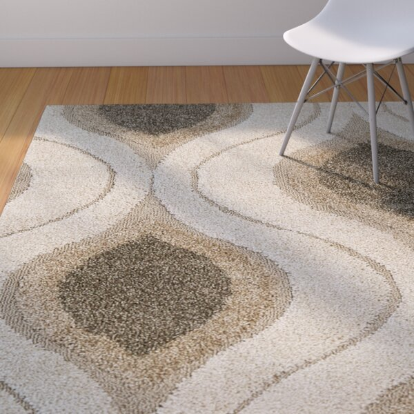 Fulton Cream/Smoke Shag Area Rug by Langley Street