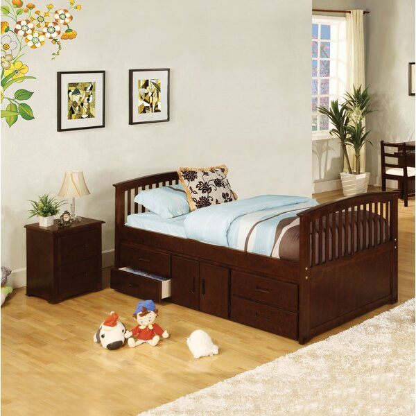 Clemson Twin Platform Bed with Storage by Harriet Bee