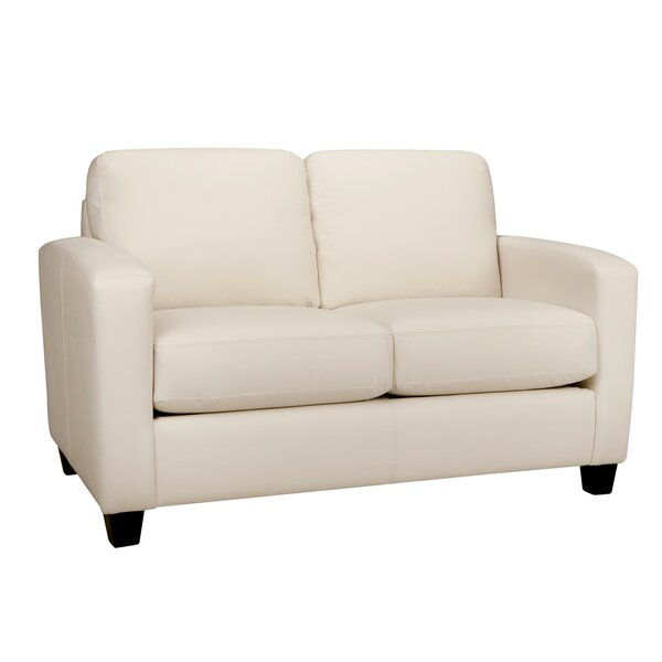 Woodby Leather Loveseat By Latitude Run