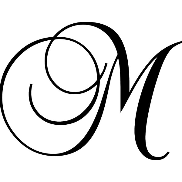 Letter M Wall Decal by Enchantingly Elegant