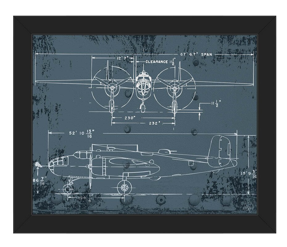 Click wall art airplane blueprint framed graphic art reviews airplane blueprint framed graphic art malvernweather Image collections