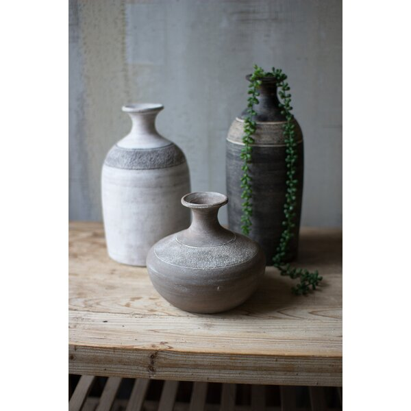 Pfeffer Clay Vessels 3 Piece Pot Planter Set by Bloomsbury Market