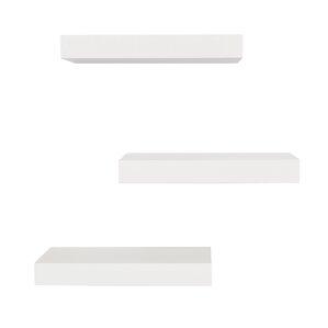 Marvellous Floating Wall Shelves White Photo Design Inspiration