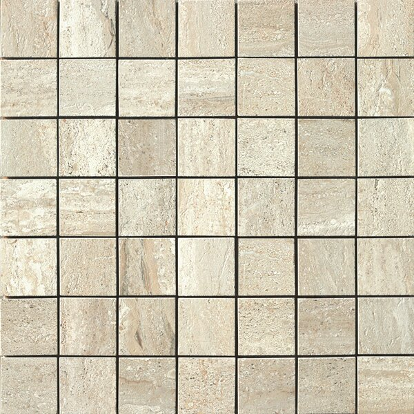 Travertini Porcelain Mosaic Tile in Beige by Samson