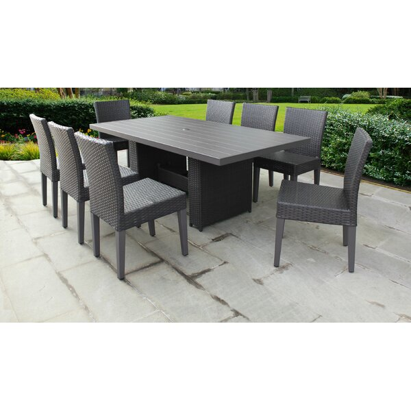 Belle 9 Piece Outdoor Patio Dining Set with Cushions by TK Classics