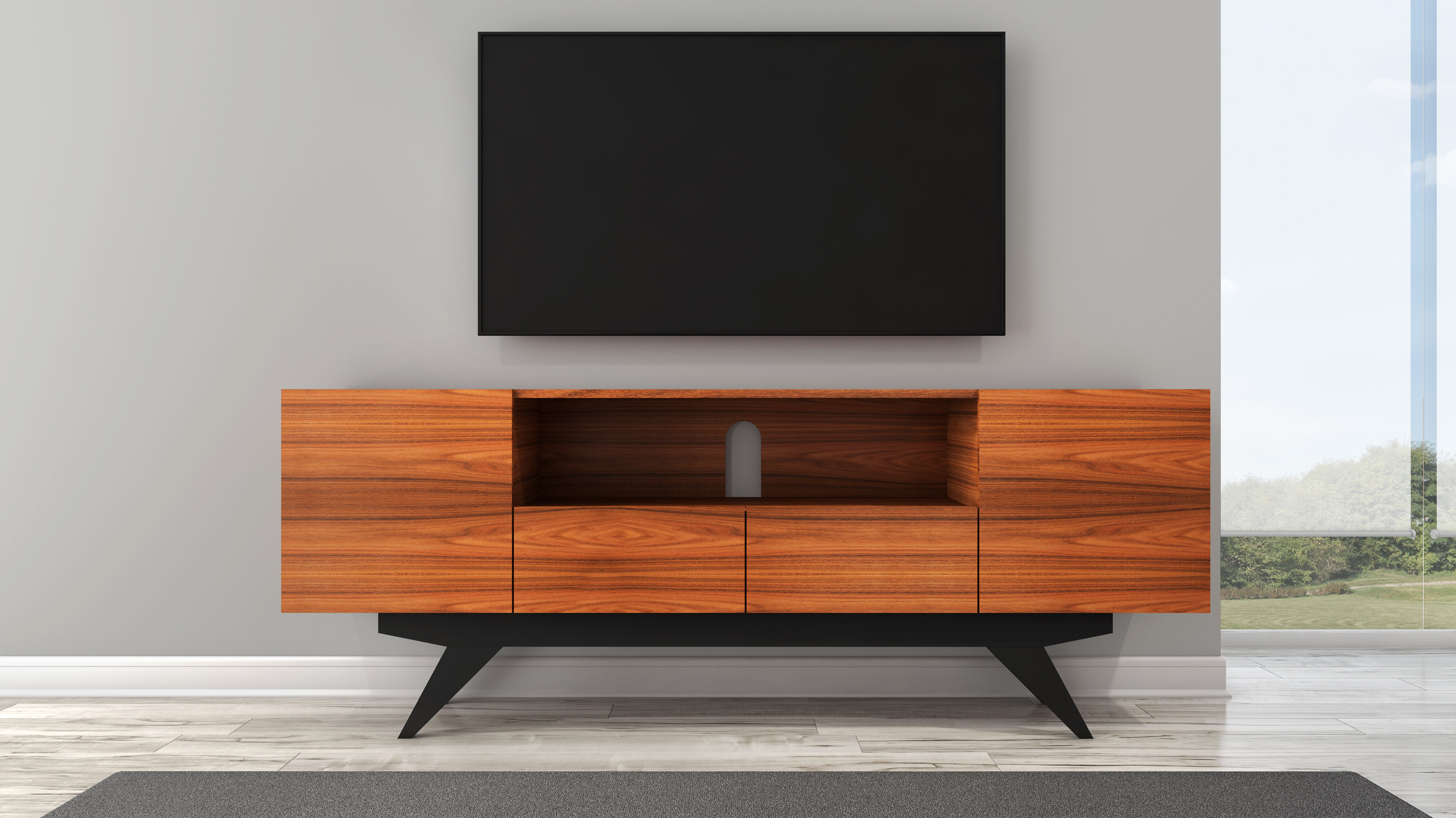 new style 34628 5e3f0 Modern TV Stand for TVs up to 86