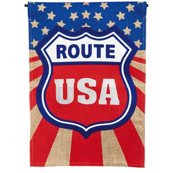 Route USA Garden Flag by Evergreen Enterprises, Inc
