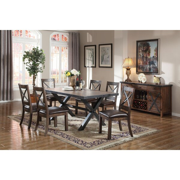 Carly 7 Piece Dining Set by Loon Peak