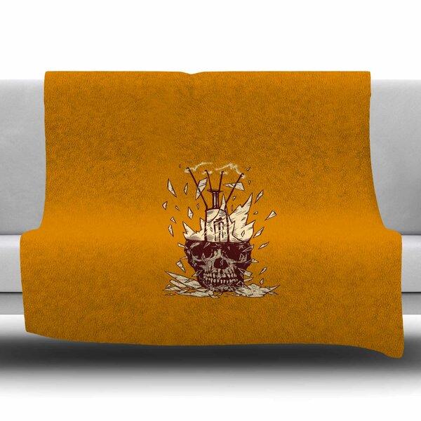 Broken Bulb by BarmalisiRTB Fleece Blanket by East Urban Home