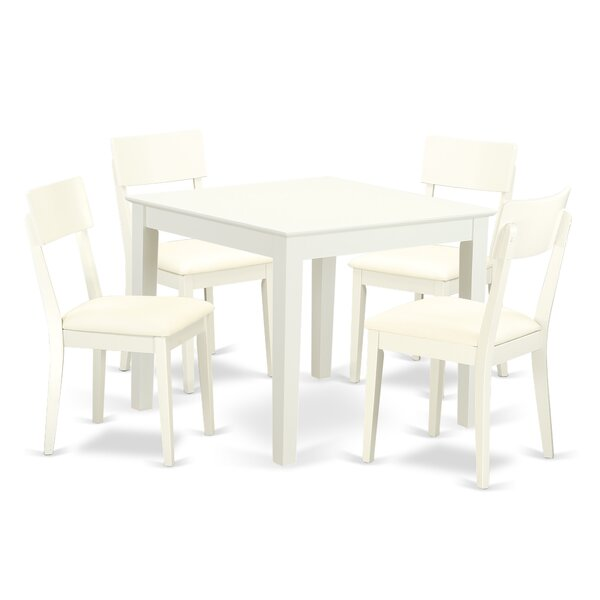 Fresh Cobleskill 5 Piece Breakfast Nook Solid Wood Dining Set By Alcott Hill 2019 Sale