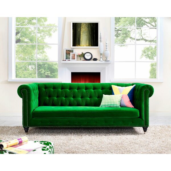Get Premium Gertrudes Chesterfield Sofa by Willa Arlo Interiors by Willa Arlo Interiors