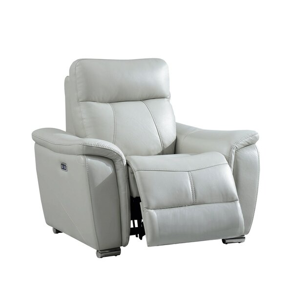 Biuso Leather Power Recliner by Orren Ellis Orren Ellis