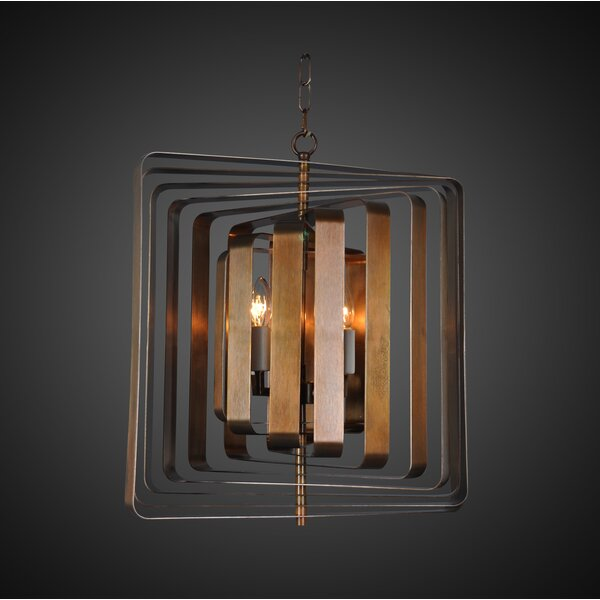 Jinie 4-Light Candle Style Geometric Chandelier by Everly Quinn Everly Quinn