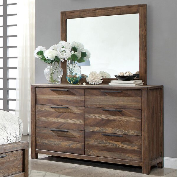 Alyssia 6 Drawer Double Dresser with Mirror by Gracie Oaks