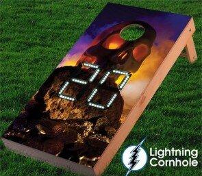 Electronic Scoring Skull Island Cornhole Board by Lightning Cornhole