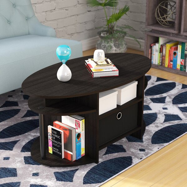 Crow Simple Design Coffee Table with Bin by Zipcode Design