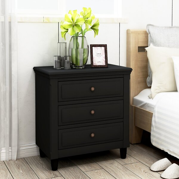 Wooler 3 Drawer Nightstand by Canora Grey