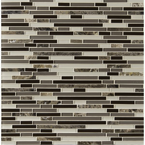 Royal Oaks Blend Interlocking Pattern Glass Mosaic Tile in Brown by MSI