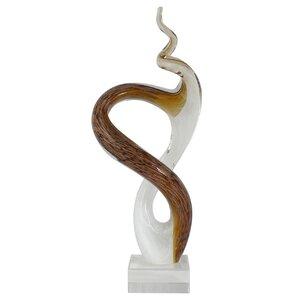 Skulptur Aquatic Glass Swirl