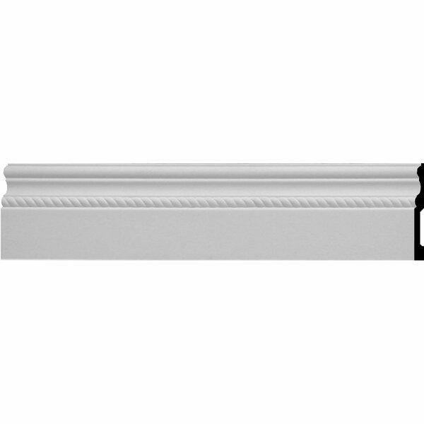 Oslo Rope 6H x 96W x 5/8D Baseboard Molding by Ekena Millwork