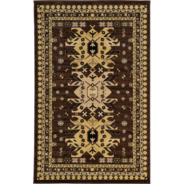 Valley Brown Area Rug by World Menagerie