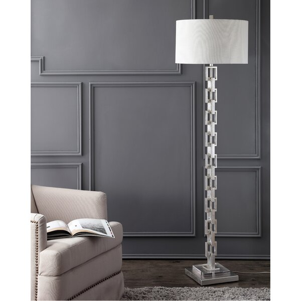 Fryman Metal Ring 64 LED Standard Lamp by Everly Quinn