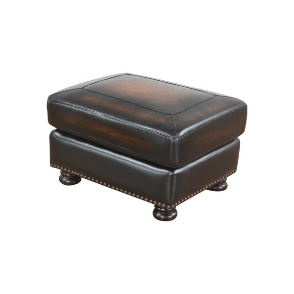 Damico Leather Ottoman By Darby Home Co