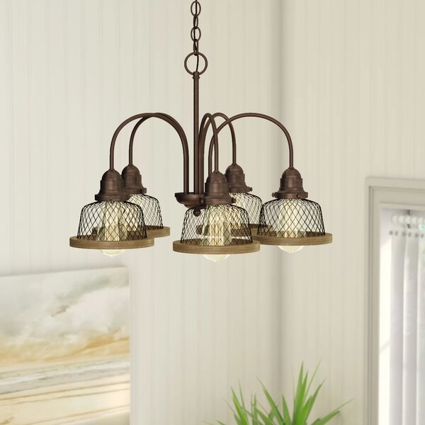 Murillo 5 - Light Shaded Classic/Traditional Chandelier by Beachcrest Home Beachcrest Home