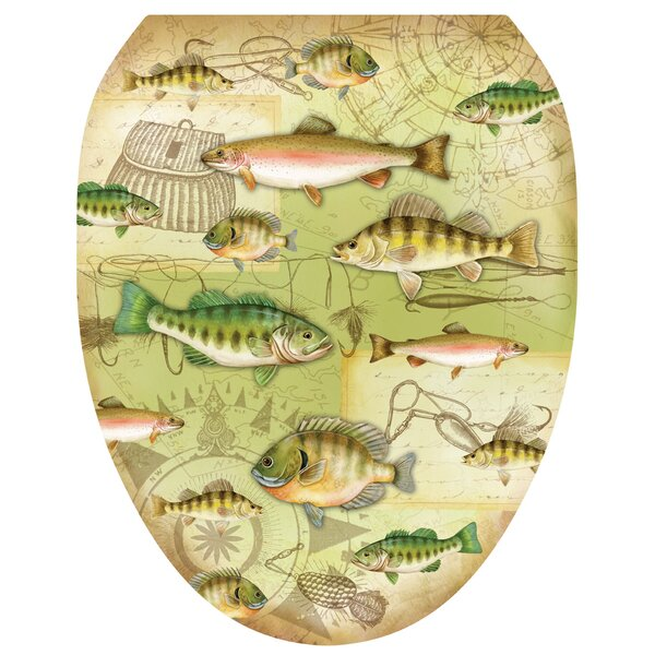 Gone Fishing Toilet Seat Decal by Toilet Tattoos